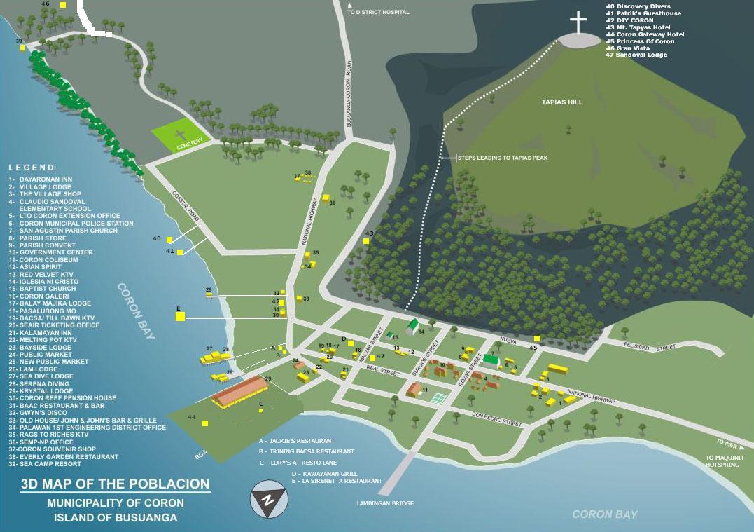 Coron Island Tour Map